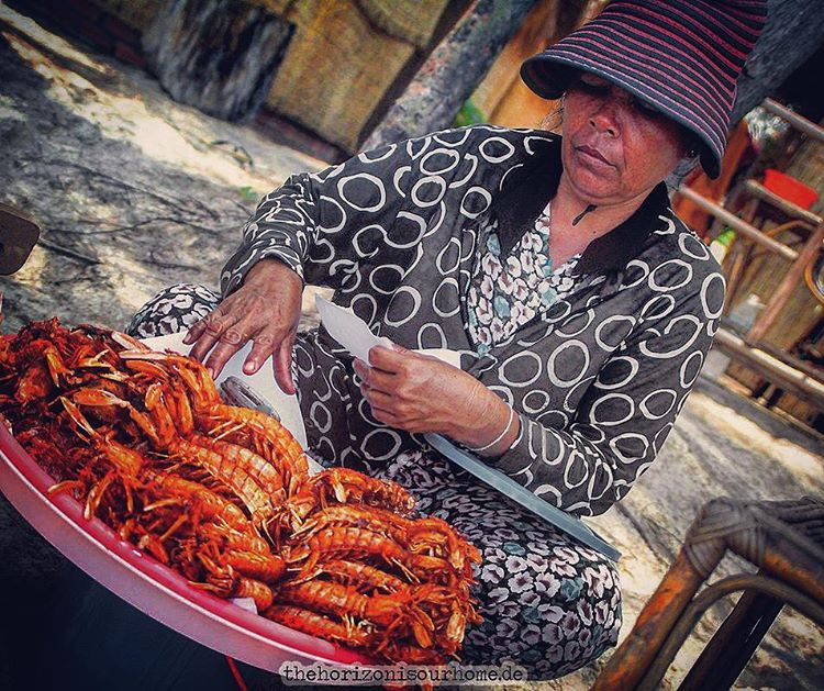 Lets get streetfood at the beach in Cambodia This ladyhellip
