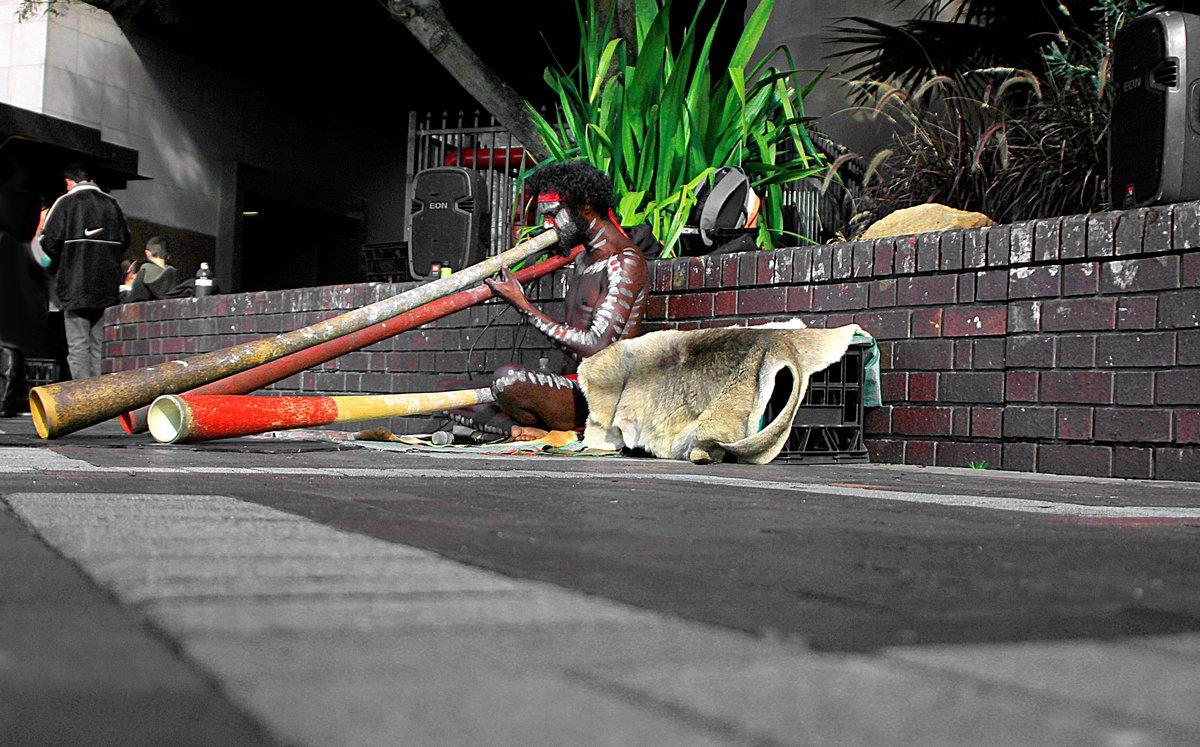 didgeridoo player, circular quay, sydney