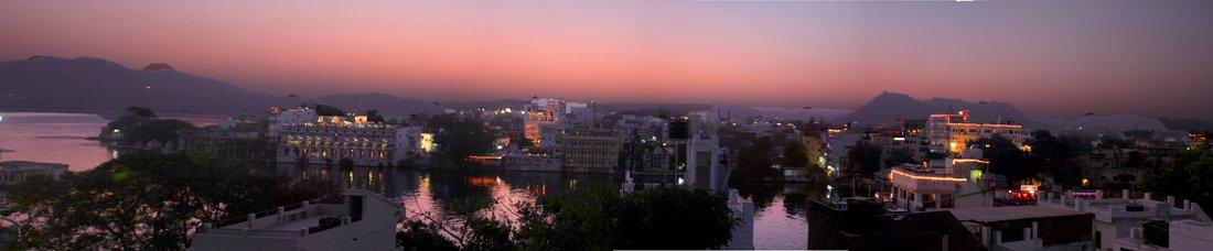 Udaipur, Panorama, Sunset
