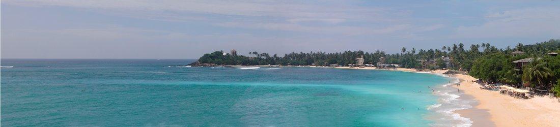 Beach Panorama, Unawatuna, Sri Lanka