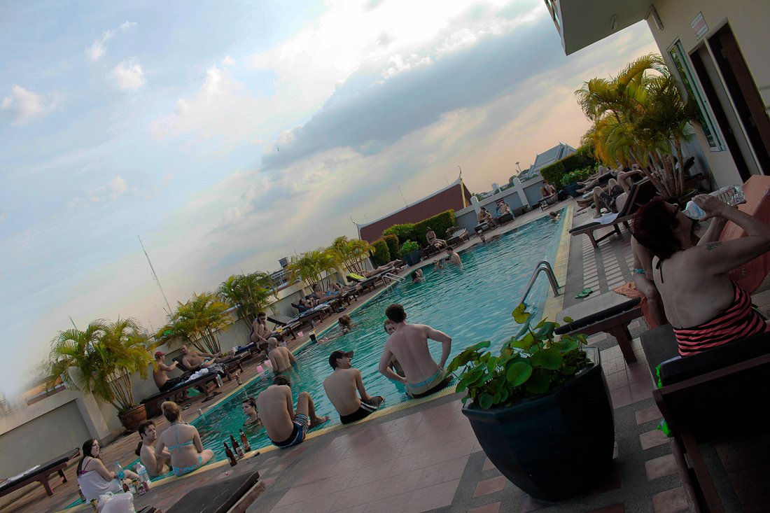 Rooftop Pool, Rambuttri Village, Bangkok