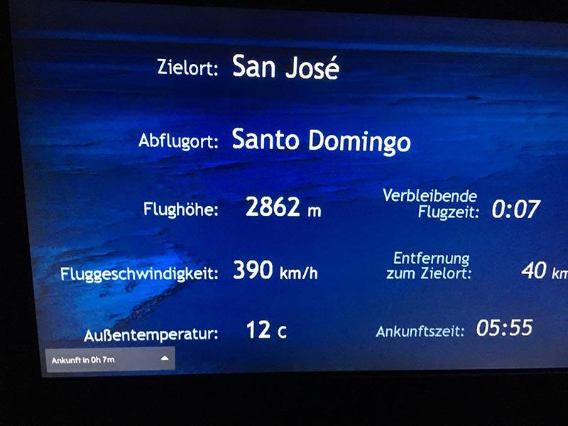 Flug Santo Domingo nach San Jose